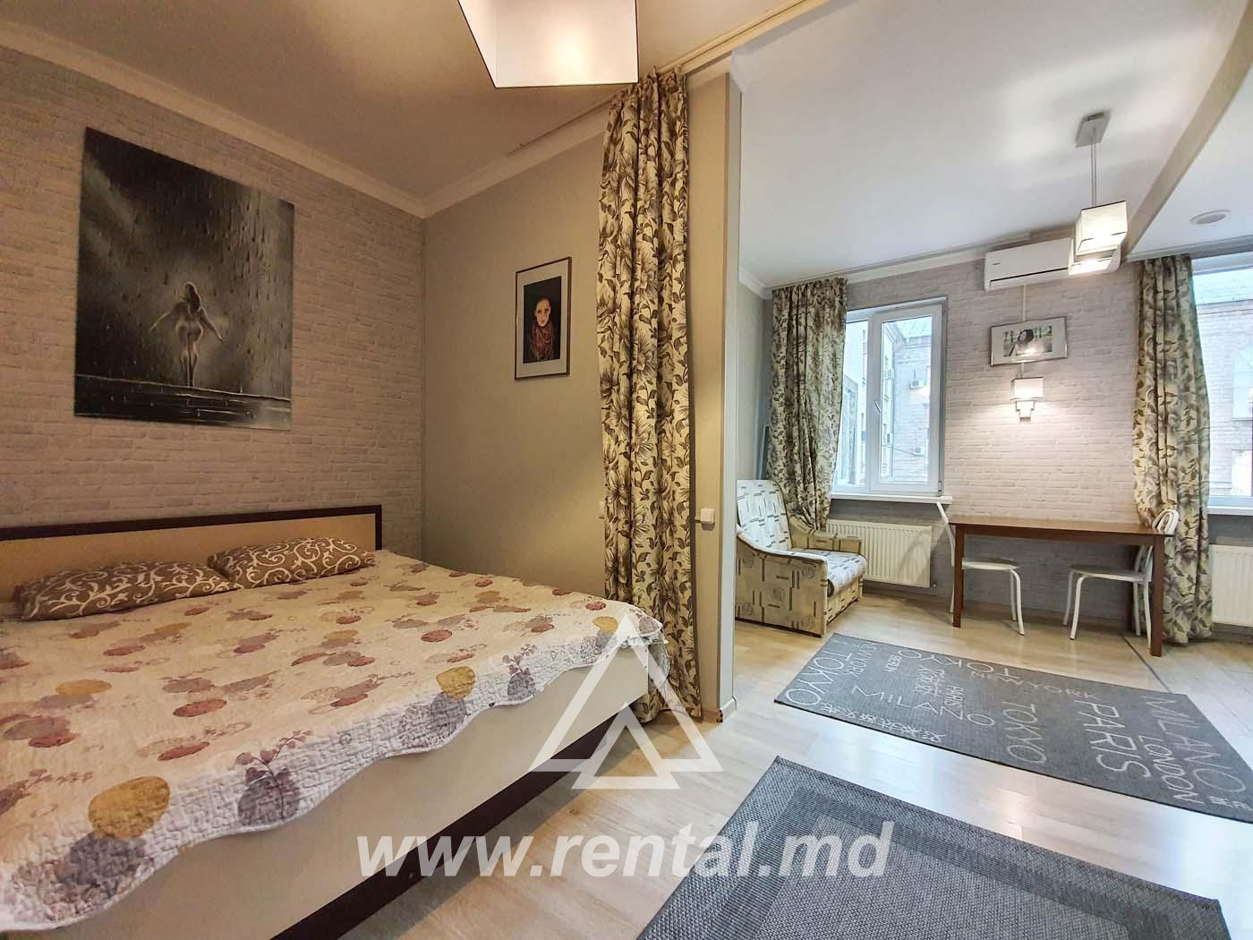1-room Chisinau apartment for daily rent in the Center