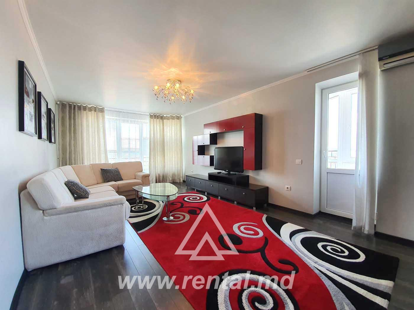 Apartment for rent in a new building in Chisinau center