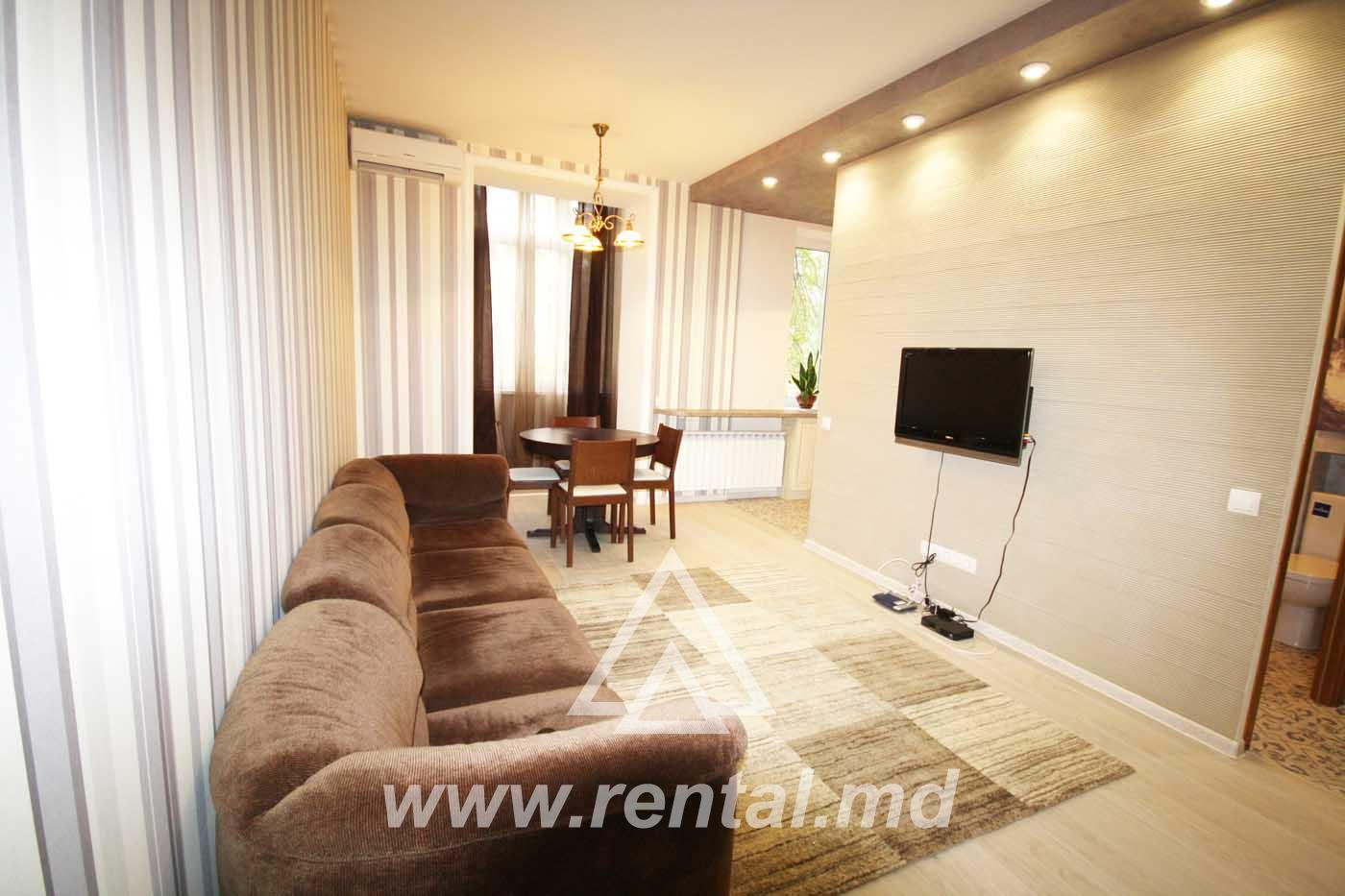 Modern apartment for rent in Chisinau downtown