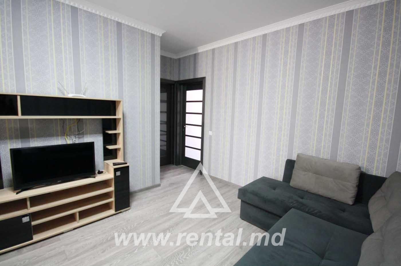 3 rooms apartment for rent in Buiucani