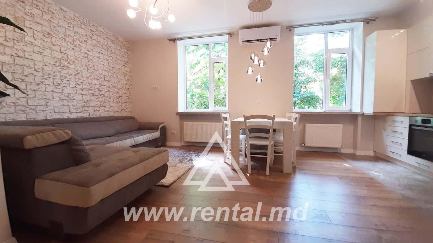 New apartment for rent in the historical center of Chisinau